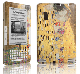 The Kiss by Gustav Klimt on the Amazon Kindle 2/ courtesy of Skinit, Inc.