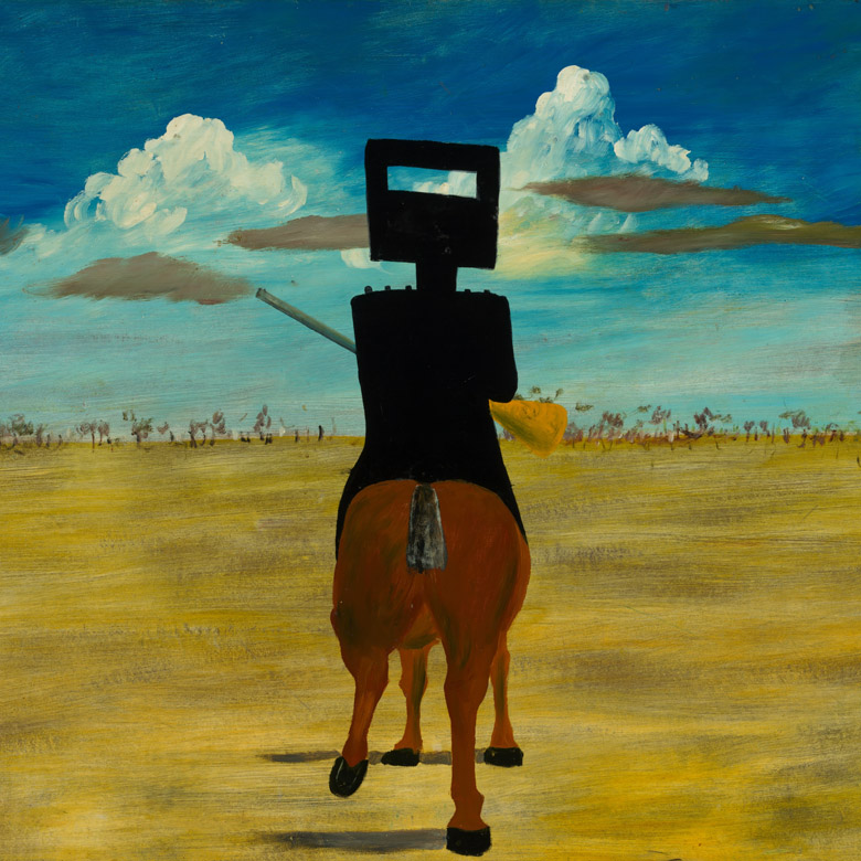 Ned Kelly, 1946 by Sir Sidney Nolan(1917-92) National Gallery of Australia, Canberra