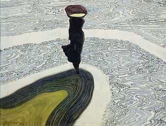 Woman at the Edge of the Water, 1910 (oil on canvas), by Leon Spilliaert (1881-1946) / Private Collection / Giraudon