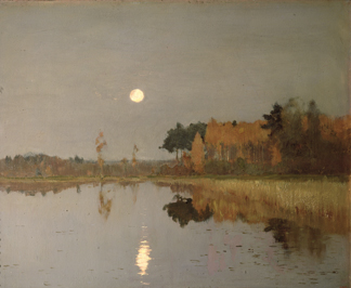 The Twilight Moon, 1899 (oil on canvas) by Isaak Ilyich Levitan / State Russian Museum, St. Petersburg