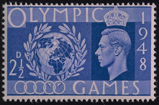 Stamp commemorating the 1948 London Olympics