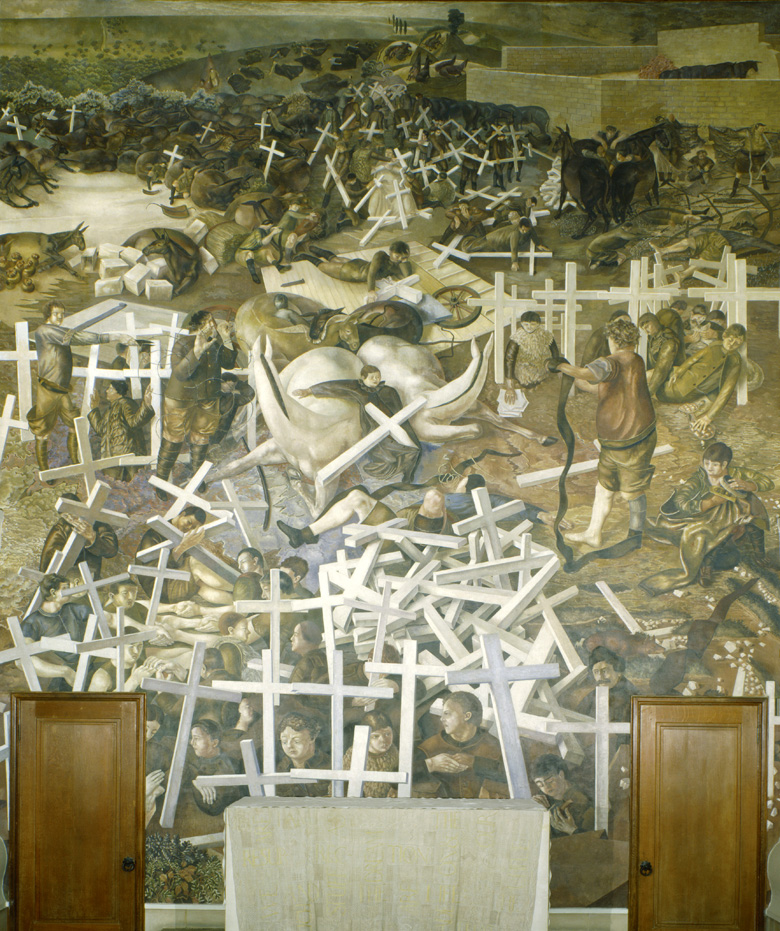 The Resurrection of the Soldiers (detail), 1923-27 (wall painting), Stanley Spencer (1891-1959) / Sandham Memorial Chapel, Burghclere, Hampshire, UK