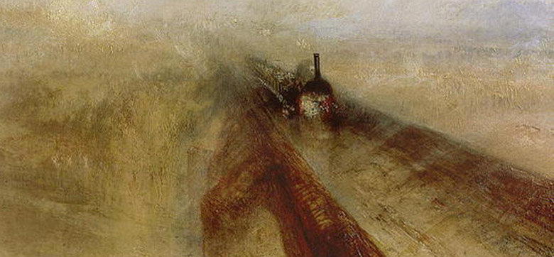 Rain Steam and Speed, The Great Western Railway, (detail) painted before 1844 by J.M.W. Turner (1775-1851) / National Gallery, London, UK