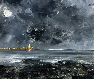 The Town (detail) by August Johan Strindberg (1849-1912) / © Nationalmuseum, Stockholm, Sweden