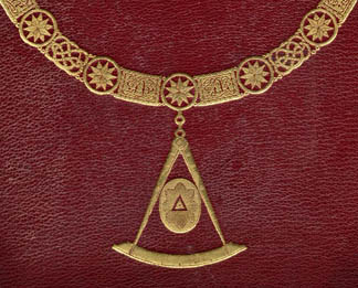 Detail of the cover of 'The History of Freemasonry, volume I', published by Thomas C. Jack, London, 1883 / Private Collection/ Ken Welsh