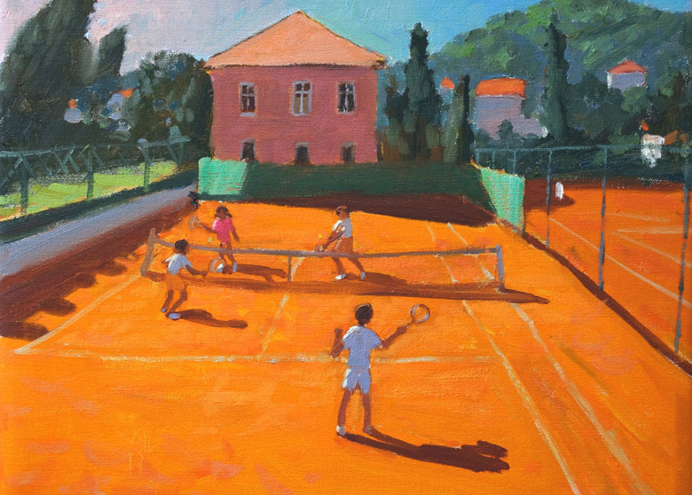Clay Court Tennis, Lapad, Croatia, 2012, Andrew Macara / Bridgeman Images