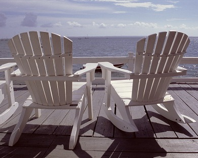 Terrace of 'The Red Inn', 2005 by Martha's Vineyard, Massachusetts, USA/ © Sylvie Allouche/ out of copyright
