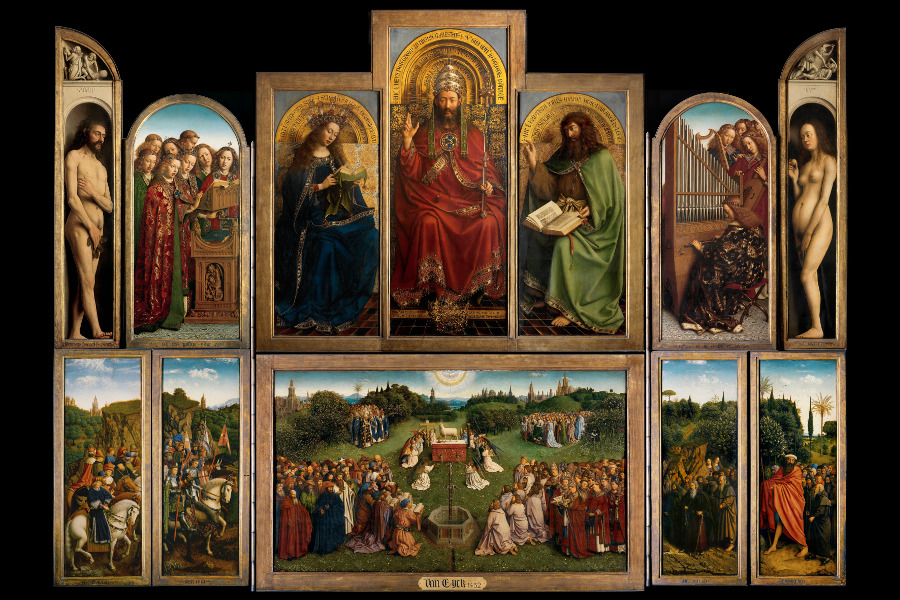 The Ghent Altarpiece / Hubert & Jan van Eyck / St. Bavo Cathedral, Ghent, Belgium / © Lukas - Art in Flanders / Photo: Hugo Maertens / Bridgeman Images