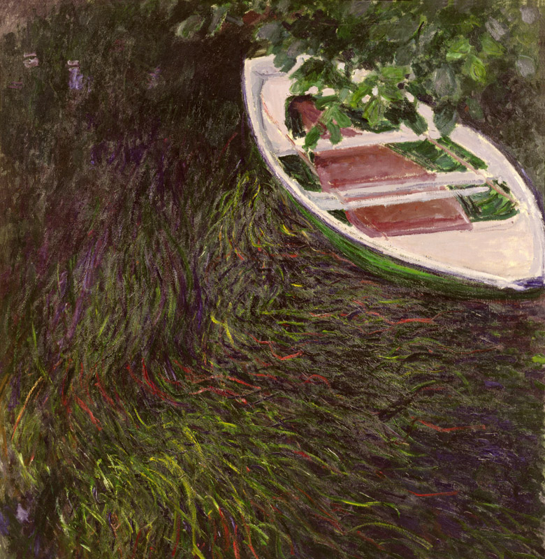 The Rowing Boat, c.1889-1890 (oil on canvas), Claude Monet (1840-1926)/ Bridgeman Images