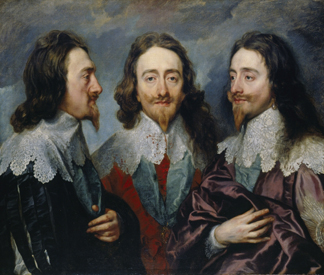 Charles I in three positions, 1635 (oil on canvas) by Sir Anthony van Dyck/ The Royal Collection © Her Majesty Queen Elizabeth II