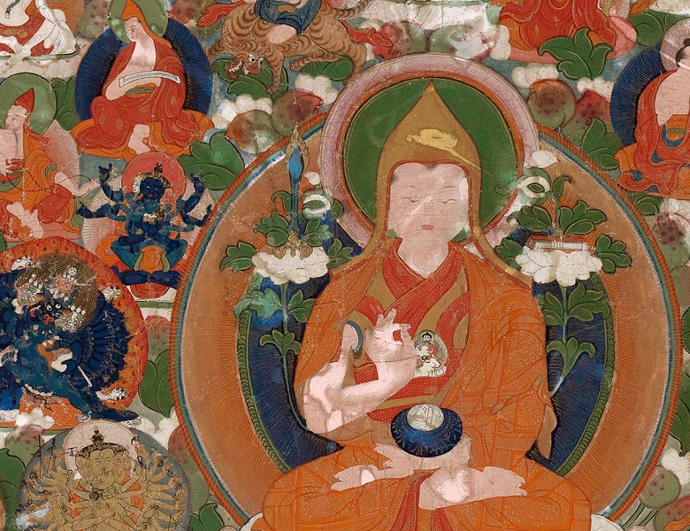MAM 712580 Assemblage of Divinities (Tsog-Shing) (detail), 18th-early 20th century, Tibetan School / Mead Art Museum, Amherst College, USA