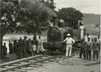 No. 12 Locomotive in steam at Ghana, Lagos Railway, 18th June 1909 