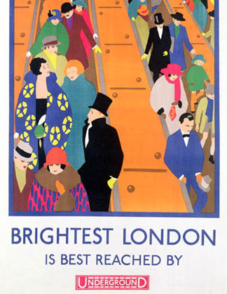 SC 20345 Brightest London is Best Reached by Underground, 1924, printed by the Dangerfield Co by Taylor, Horace