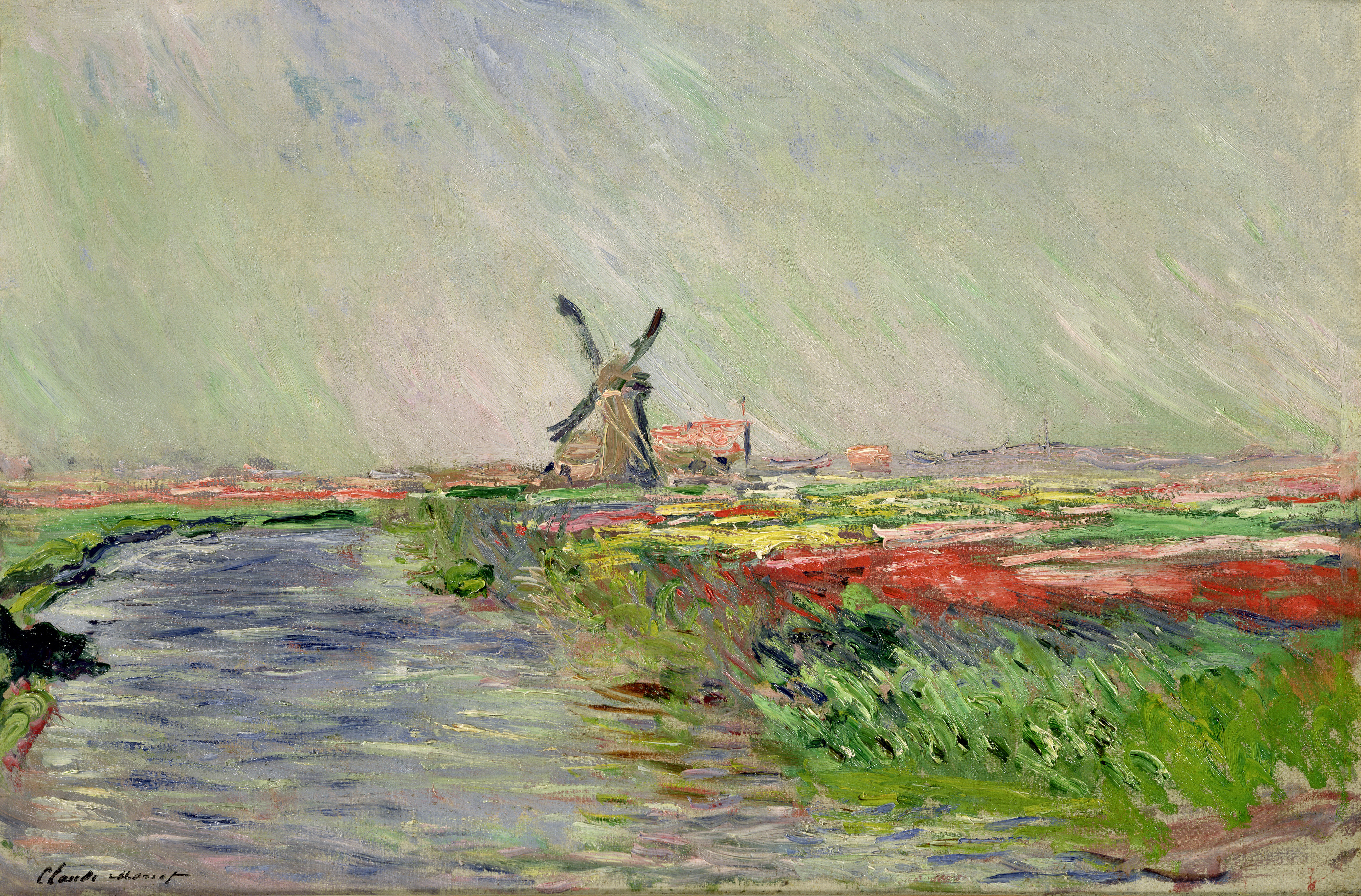Tulip Field in Holland (oil on canvas), Claude Monet (1840-1926)/ Bridgeman Images