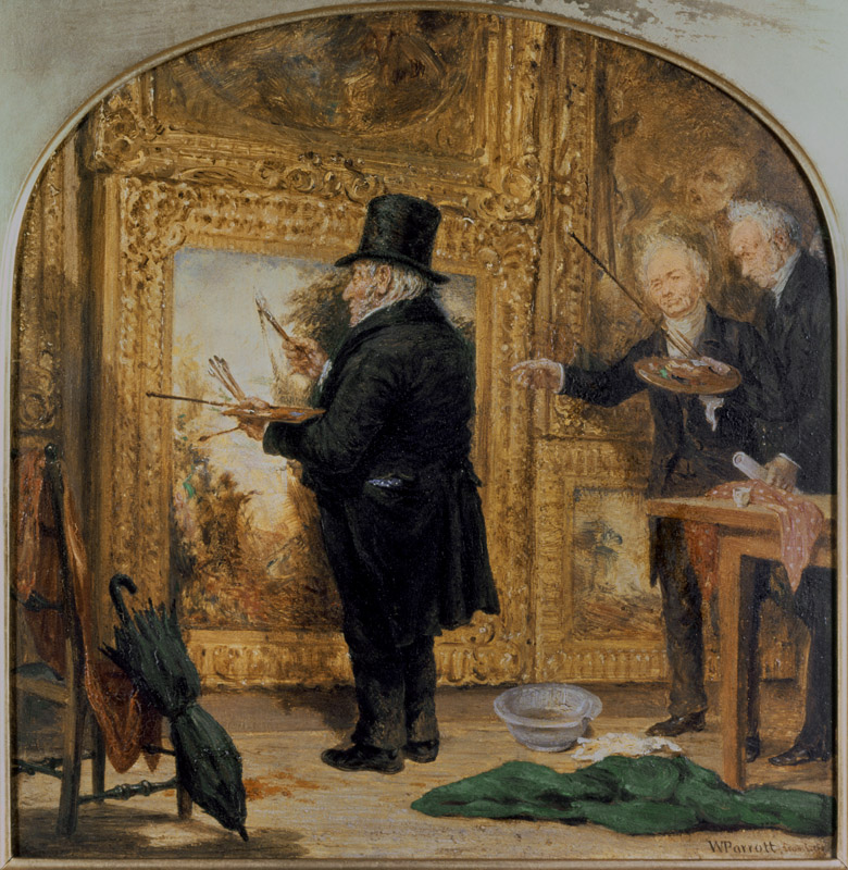 J. M. W.Turner (1775-1851) at the Royal Academy, Varnishing Day by William Parrott (1813-69) / The Collection of the Guild of St. George, Sheffield, UK