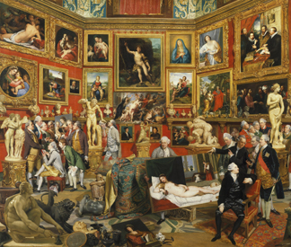 The Tribuna of the Uffizi, 1772-77 by Johann Zoffany/ The Royal Collection © Her Majesty Queen Elizabeth II