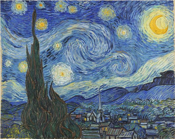The Starry Night, June 1889 (oil on canvas), Vincent van Gogh (1853-90) / Museum of Modern Art, New York, USA / Bridgeman Images