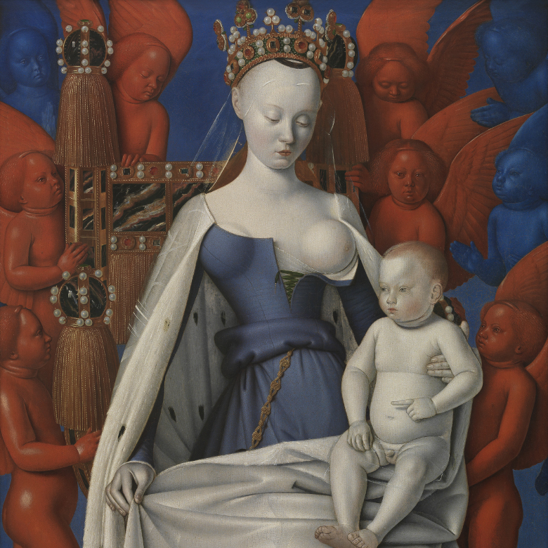 Virgin and Child surrounded by cherubim and seraphim / Jean Fouquet / Koninklijk Museum voor Schone Kunsten, Antwerp, Belgium / © Lukas - Art in Flanders VZW / Photo: Hugo Maertens / Bridgeman Images