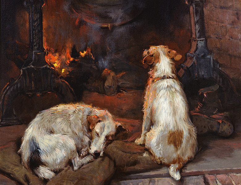 By the Hearth, 1894, Philip Eustace Stretton (1884-1915) / Private Collection / © Bonhams / Bridgeman Images