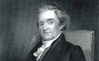 STC186041 Noah Webster (1758-1843) engraved by Frederick W. Halpin by Jared Bradley Flagg</BR>The Stapleton Collection