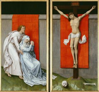 The Crucifixion, with the Virgin and Saint John the Evangelist Mourning, c. 1460 (oil on panel) by Rogier van der Weyden