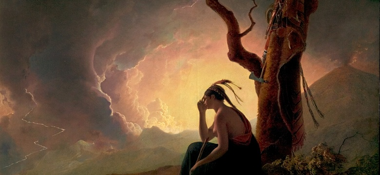 Widow of an Indian Chief (detail), 1785 by Joseph Wright of Derby (1734-97) / Derby Museum and Art Gallery, UK