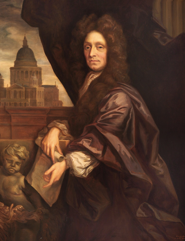 Sir Christopher Wren by Sir Godfrey Kneller (1646-1723) (after) / © Royal Hospital Chelsea, London, UK