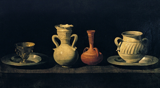 Stil Life (oil on canvas) by Francisco de Zurbaran/ Prado, Madrid