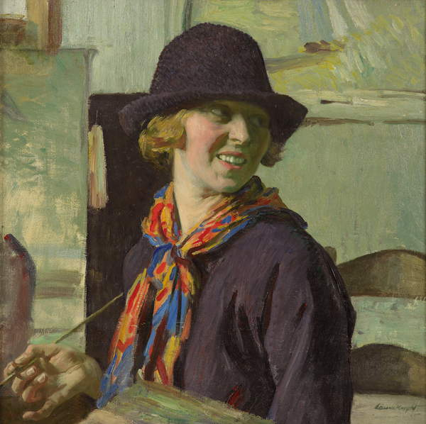 Self Portrait, c 1921 / Private Collection / Estate of Dame Laura Knight / Bridgeman Images