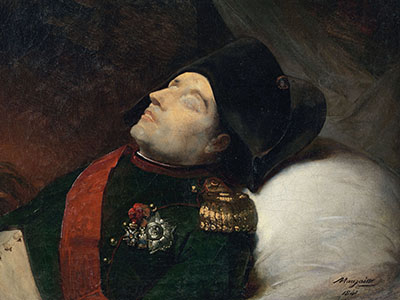 La mort de Napoleon, Jean Baptiste Mauzaisse (1784-1844) / Photo © Fine Art Images / Bridgeman Images