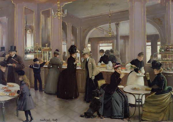 La Patisserie Gloppe, Champs Elysées, Paris, 1889 (oil on canvas) Jean Beraud (1849-1935) / Musée de la Ville de Paris, Musée Carnavalet, Paris, France / Bridgeman Images