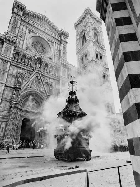 explosion of the cart on Easter Sunday when Florence was Italy's capital