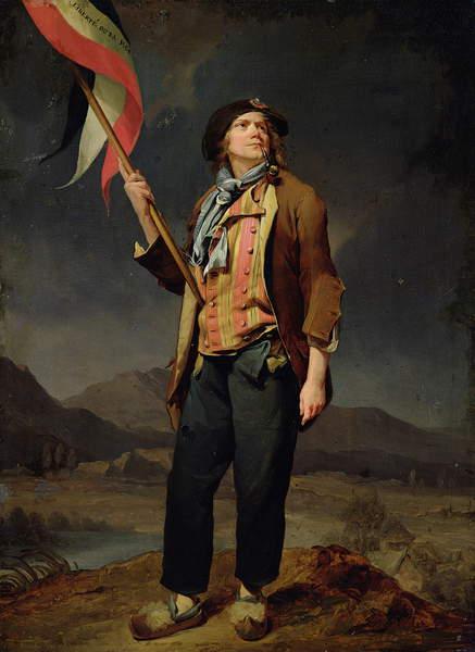 The singer Chenard, dressed as a sans-culotte, 1792 (oil on canvas) Louis Leopold Boilly (1761-1845) / Musée de la Ville de Paris, Musée Carnavalet, Paris, France / Bridgeman Images