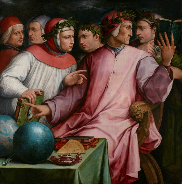 Six Tuscan Poets, 1544 (oil on panel), Vasari, Giorgio (1511-74) / Minneapolis Institute of Arts, MN, USA / The William Hood Dunwoody Fund / Bridgeman Images