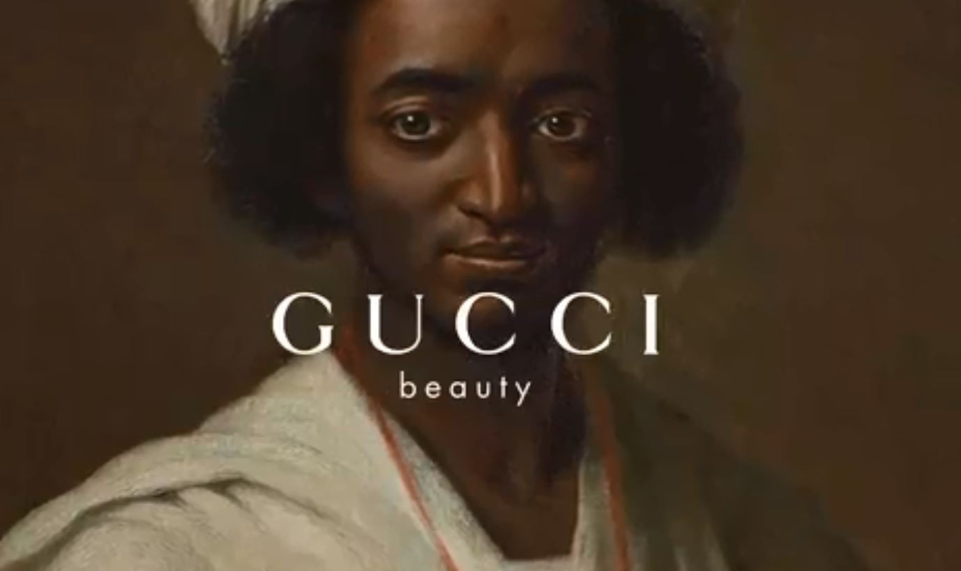 image of the Gucci Beauty website story
