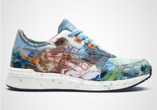 image of Vivienne Westwood x ASICS trainer with Wallace Collection painting printed on it