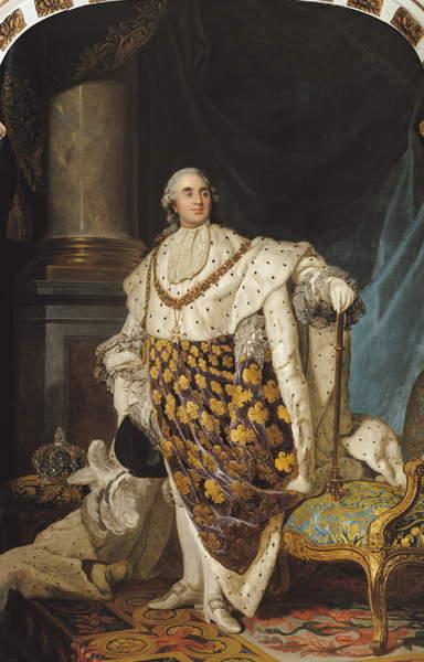 Louis XVI (1754-93) in coronation robe, after 1774 (oil on canvas) Joseph Siffred Duplessis (1725-1802) / Musée de la Ville de Paris, Musée Carnavalet, Paris, France / Bridgeman Images
