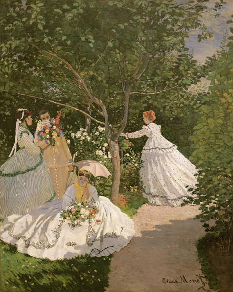 Women in the Garden, 1866 (Öl auf Leinwand) Claude Monet (1840-1926)