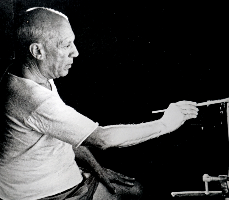 Picture of Pablo Picasso painting