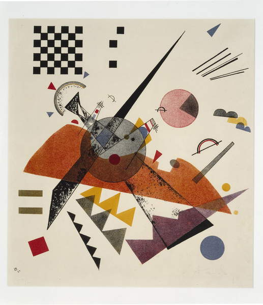 Orange - Composition with Chessboard, 1923 (color lithograph), Kandinsky, Wassily (1866-1944) / Dallas Museum of Art, Texas, USA / gift of the Carl Schurz Memorial Foundation of Philadelphia / Bridgeman Images
