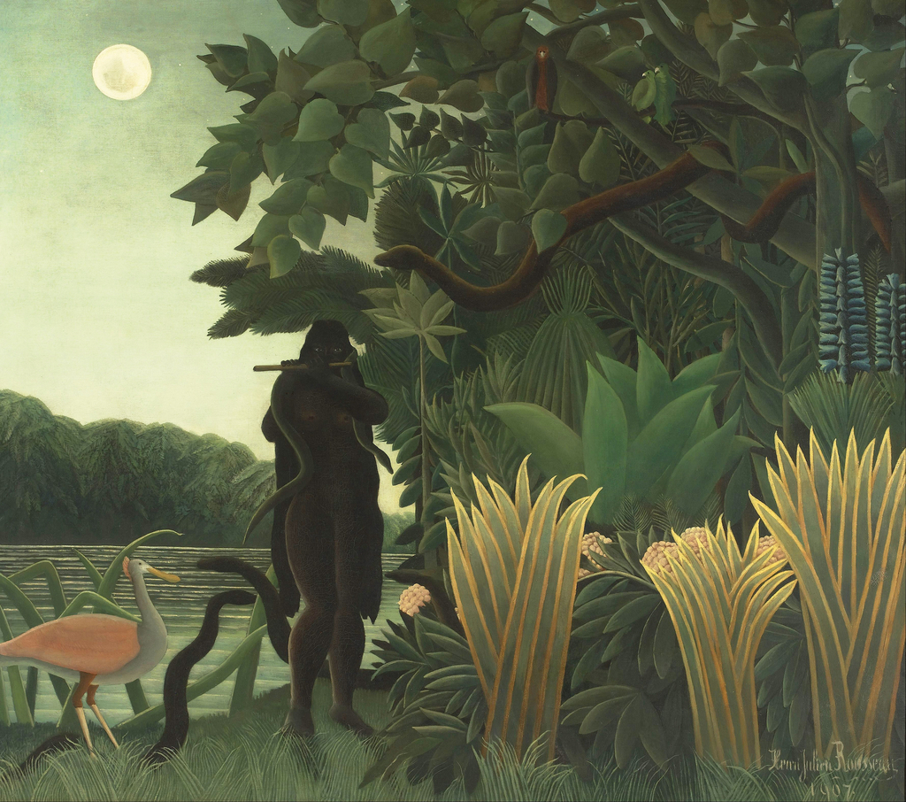 The Snake Charmer, 1907 (La Charmeuse de serpents) (oil on canvas) Henri J.F. Rousseau (Le Douanier) (1844-1910) / Musee d'Orsay, Paris, France / Bridgeman Images