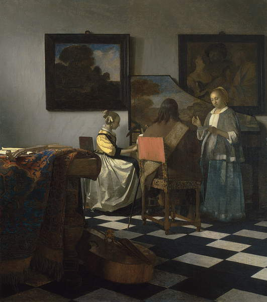 The Concert, c.1658-60 (oil on canvas), Vermeer, Jan (Johannes) (1632-75) / Isabella Stewart Gardner Museum, Boston, MA, USA / Bridgeman Images