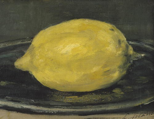 The Lemon, 1880 (oil on canvas) by Manet, Edouard