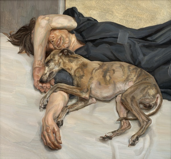 GDK619728: Double Portrait, 1985-86 (oil on canvas), Freud, Lucian (1922-2011)/ Private Collection / © The Lucian Freud Archive / Bridgeman Images