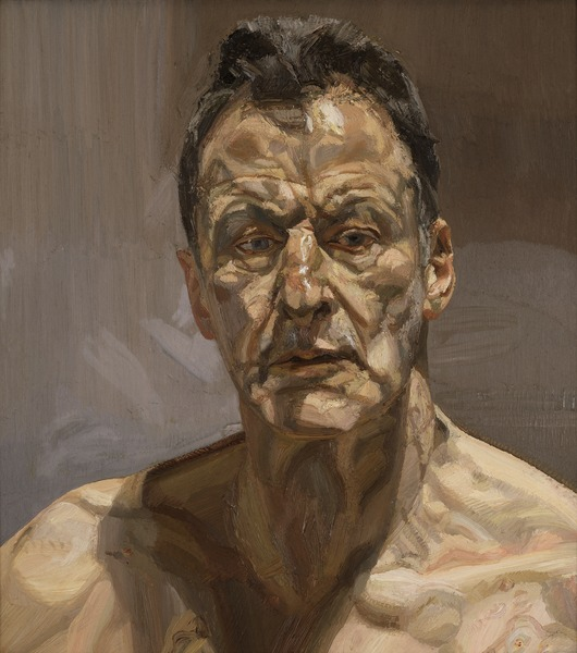 GDK619724: Reflection (Self Portrait), 1985 (oil on canvas), Freud, Lucian (1922-2011)/ Private Collection / © The Lucian Freud Archive / Bridgeman Images